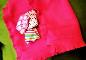 Doll blanket and pillows