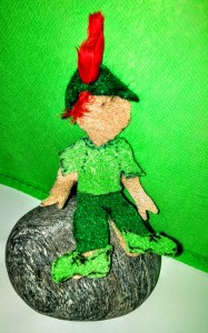 Robbn Hood out fit on 3.5 felt Spice Nap Doll by No Non-cents Nanna.