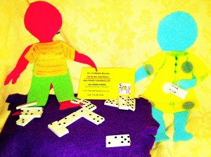 It is family game night with No Non-cents Nanna's felt doll family.