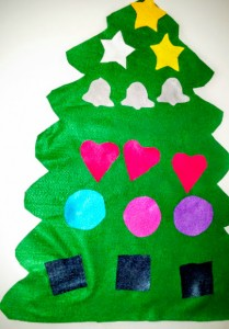 "My Felt Christmas Tree sels for only $7.50. It has 15 to 18 basic shapes. 22"" base. 28"" high. Hot item for tots this years"