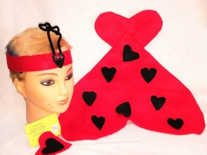 Surprise your little lady bug with this Red adn black heart lady bug wing set for Valentine's Day via snail mail. See post.