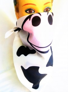 Polyester Cow face/muzzle bandan for sale on Heart Felt Play Store.