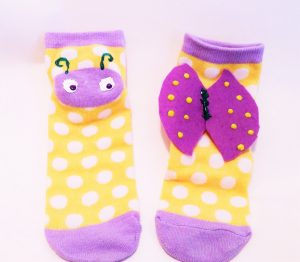 Lady bugs of a different color socks re-created by No Non-cents Nanna for Heart Felt Play Store