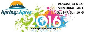 Come enjoy Springs Spree an annual ColoradoSprings big evnt August 13 and 14, 2016