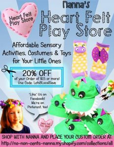 Find this Heart Felt Play Store ad in Lets Be Local Colorado . Clip the coupon then apply CODE discount online or bring the clpped coupon to Creative Expressionsocc, 2501 west Colroado ave, Colorado Springs, CO use for Heart Felt Play Store mercahndise ONLY.