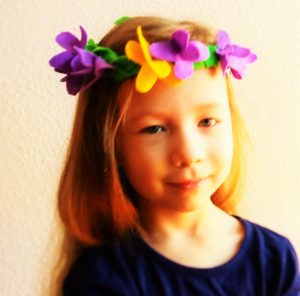 Felt hair garland by Heart Felt Play Store now at Creative Expressions in Colorado Springs Colorado every day.