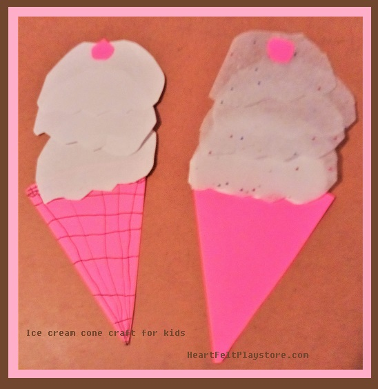 Paper ice cream cone craft for kids no non cents nanna paper ice cream cone craft for kids is fun and easy to make maxwellsz