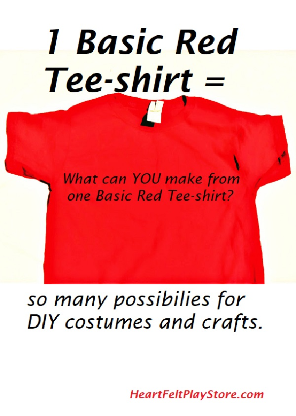 b4f422c9a DIY Halloween costumes save money and is a fun family activity. How many  ideas can you name that a RED Tee-shirt is needed for a costume?